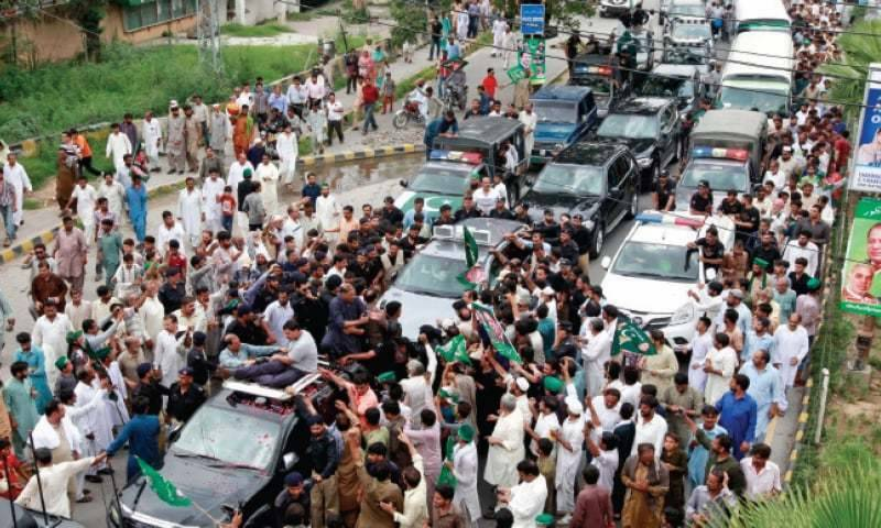 14-years-old boy crushes to death by Nawaz Sharif's rally