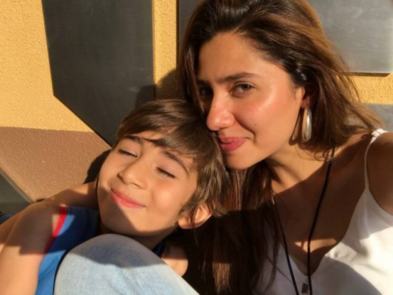 Adorable picture of Mahira with son