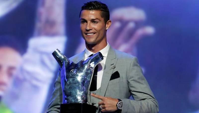 Cristiano Ronaldo grabs UEFA Player of Year award