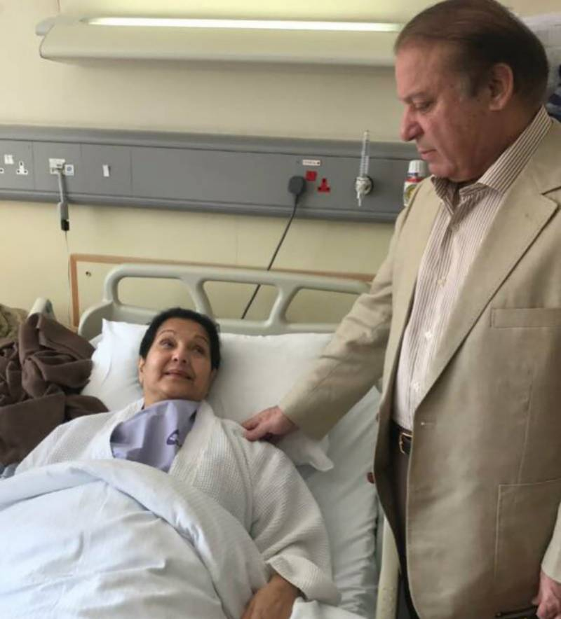 Former first lady Kulsoom Nawaz undergoes surgery for throat cancer