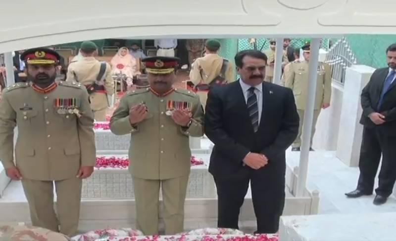 Gen Raheel Sharif visits Maj Shabbir's mausoleum