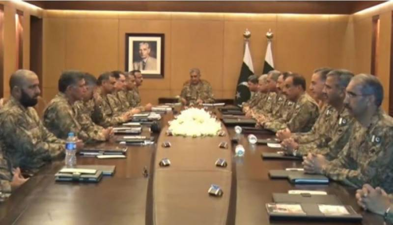 COAS Bajwa chairs Corps Commanders's meeting over security situation