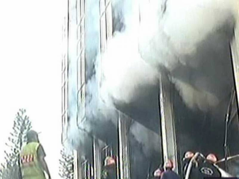 Fire at Islamabad's Awami Markaz claims two lives, damages CPEC record