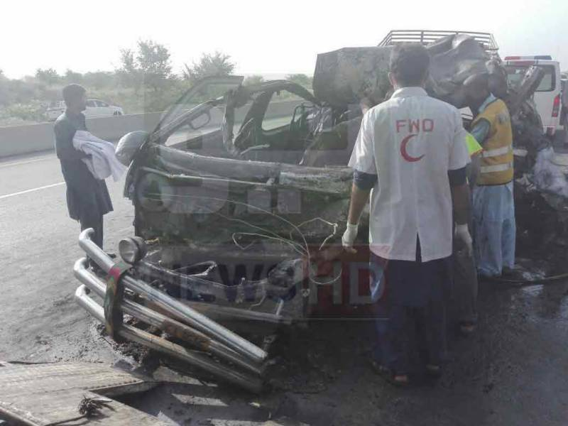 14 passengers including four children burnt to death after van catches fire in Rawalpindi