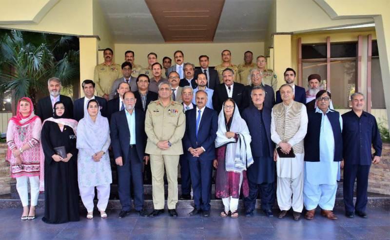 Lawmakers meet Army chief General Bajwa