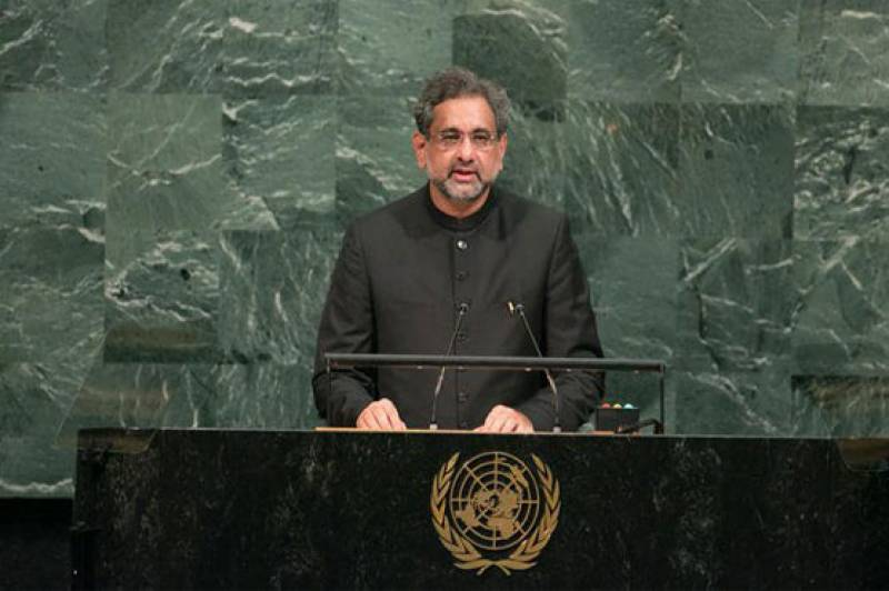 PM Abbasi speech at UNGA: full text, video