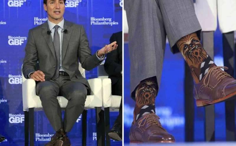 Trudeau sparks Star Wars/Star Trek spat with Chewbacca socks