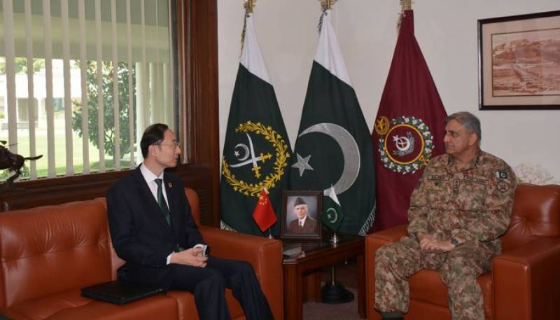 Chinese ambassador meets Army chief Gen. Bajwa