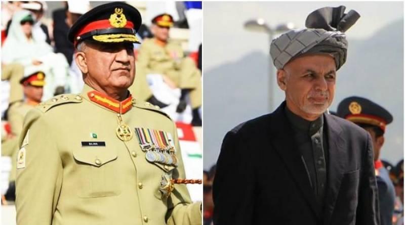 Army Chief General Bajwa meets Afghan President Ashraf Ghani