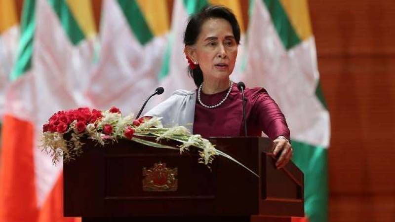 Oxford University college removes Suu Kyi portrait over plight of Rohingya Muslims