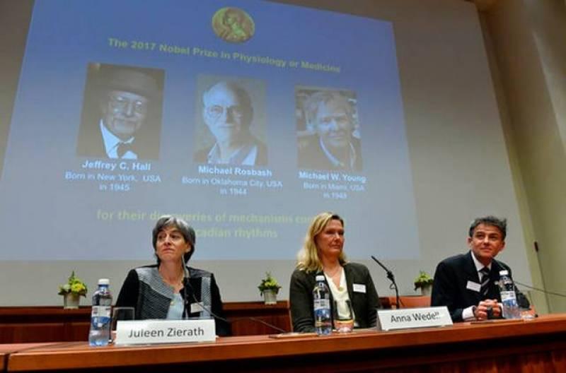 Three Americans win Nobel medicine prize for body rhythm work