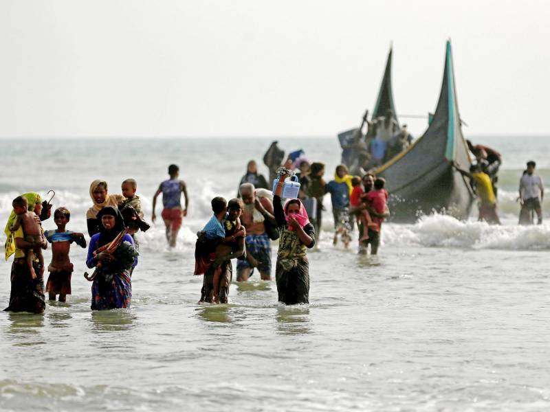 Dozen mostly children dead, scores missing as Rohingya boat capsizes