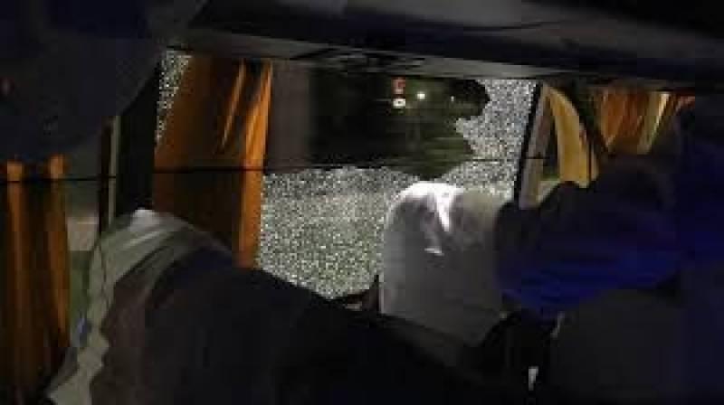 Australian cricket team's bus attacked in India