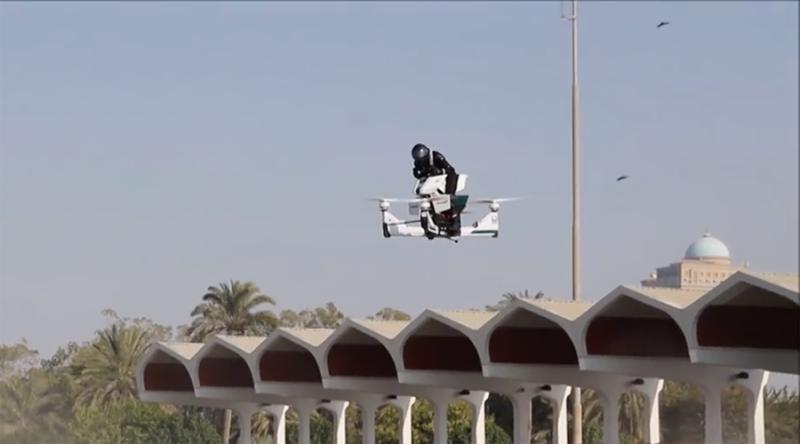 Flying motorbike curbs street crime in Dubai