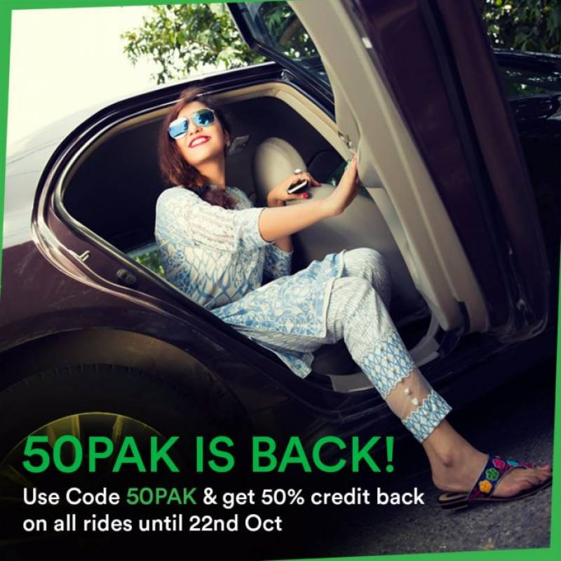 Careem's new promotion, '50PAK is BACK'