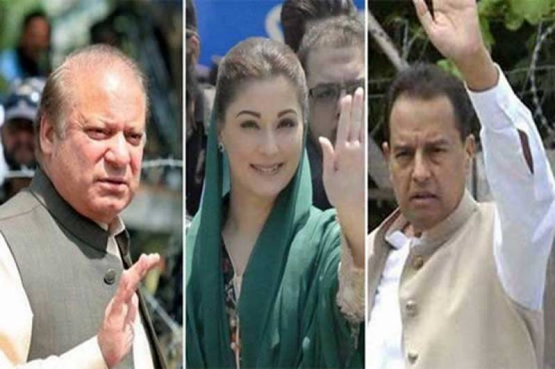 Nawaz Sharif, Maryam, Captain Safdar appear before court