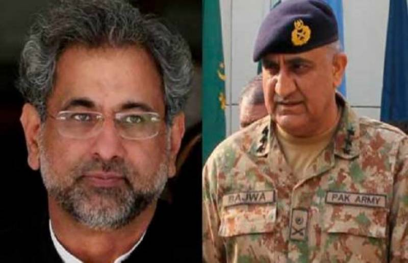 Army chief telephone PM Abbasi, suggest to handle Islamabad sit-in peacefully