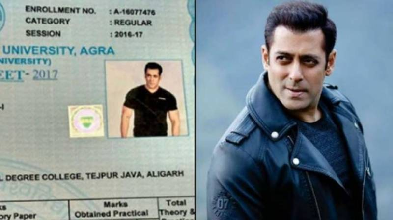 Is Salman Khan about to get Bachelor degree?