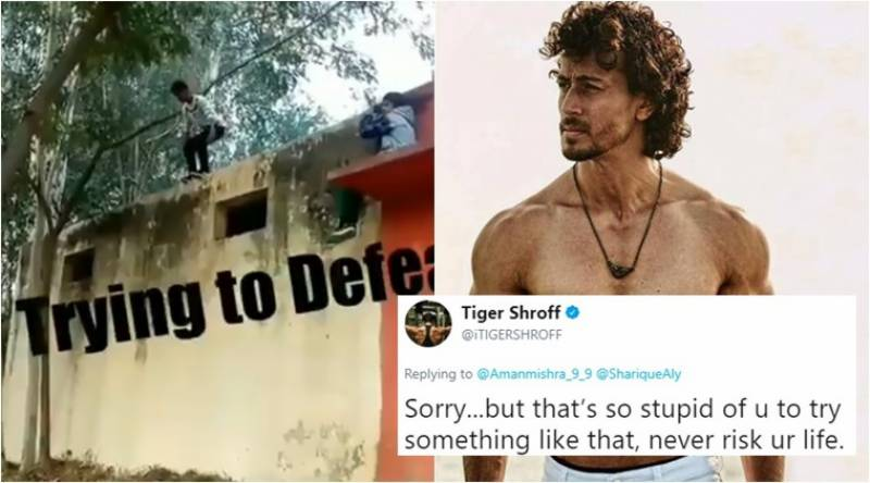 Tiger Shroff scolds fan for doing stunt without safety measure