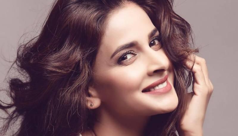 Saba Qamar falls during catwalk, leaves Pakistanis in awe