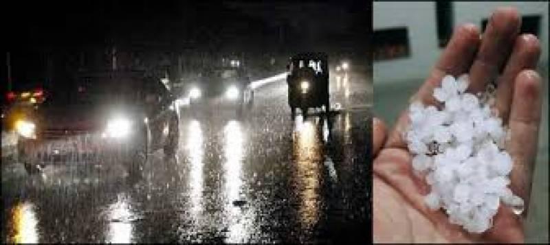 Hail storms accompanies heavy rains in Karachi