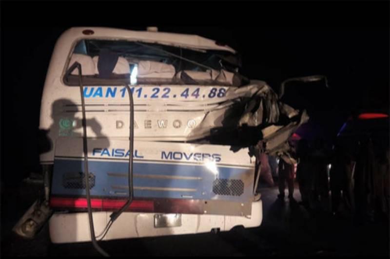 Bus-trailer collision near Khanewal claims 11 lives