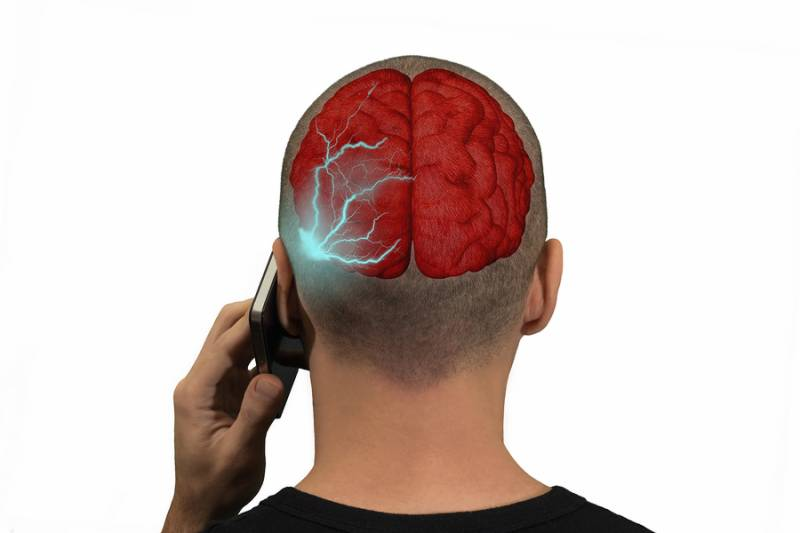 Radiation from mobiles can cause damage to brain
