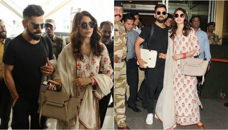 Virushka leave for Mumbai to host second reception (pics)