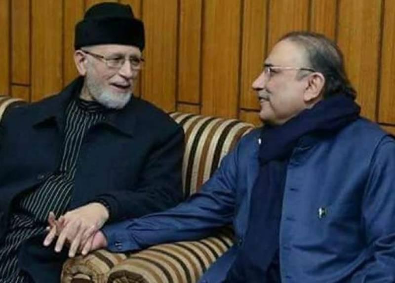 Former President Zardari to meet Tahir-ul-Qadri today