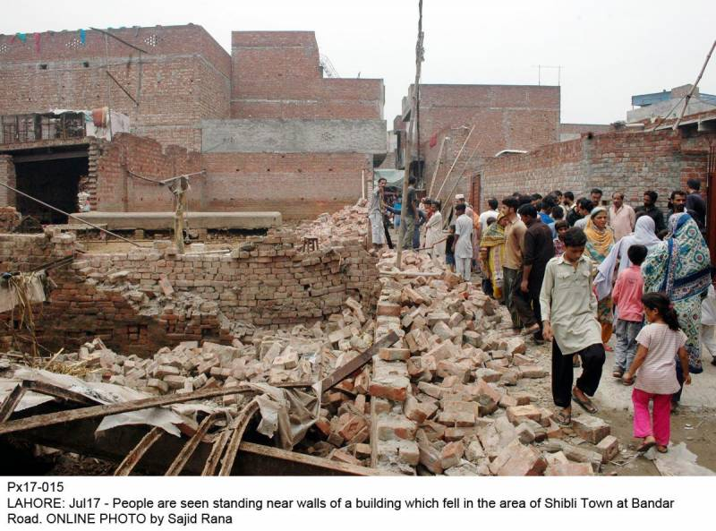 Two children lost their lives as house collapsed in Lahore