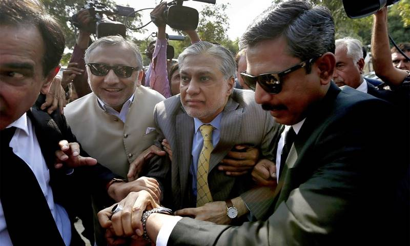 IHC rejects Ishaq Dar's plea to suspend his declaration as absconder