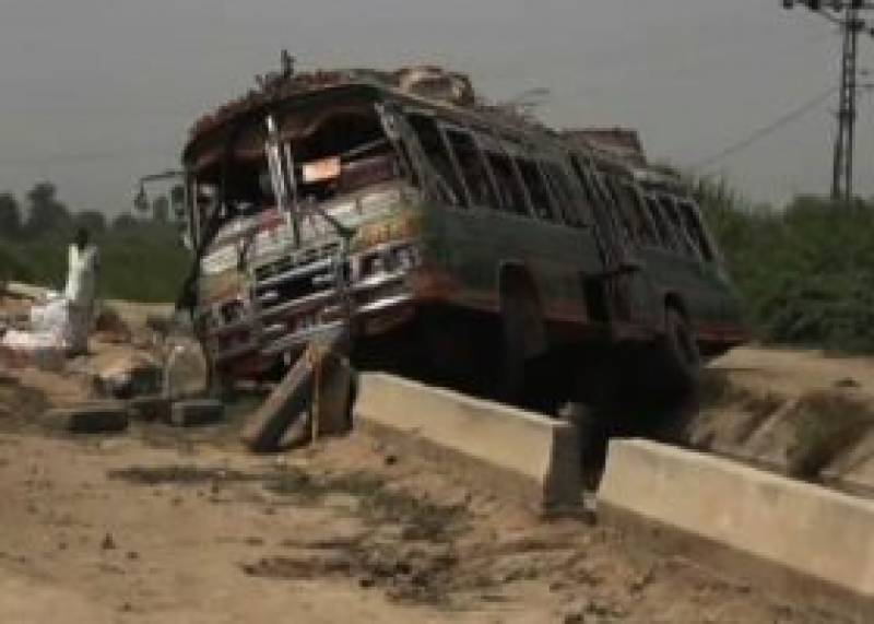 Eight dead, 20 injured in road mishap