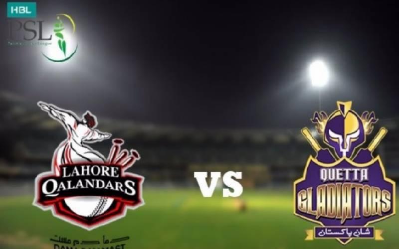 PSL 3, 26th Match: Lahore Qalanders beat Quetta Gladiators by 17 runs