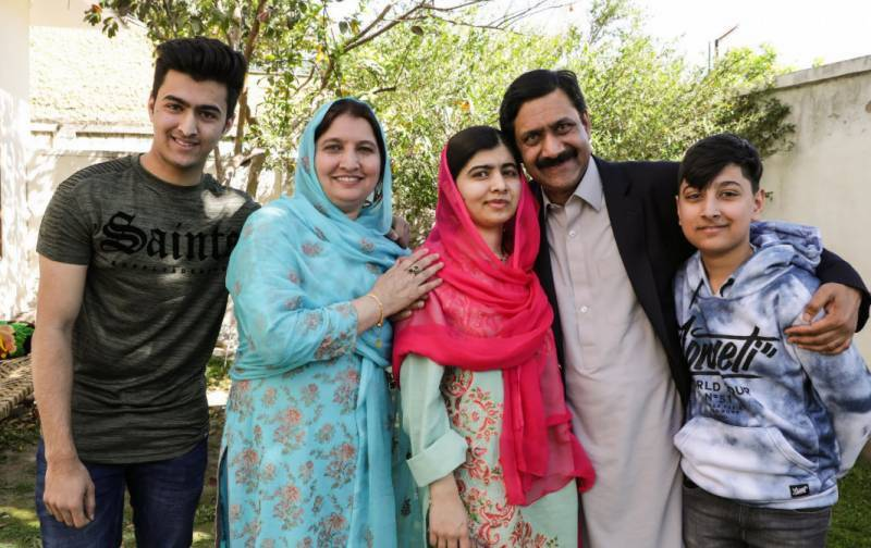 Malala, family leaves for London
