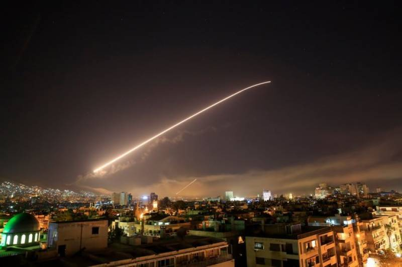 US, Britain, France launch joint attack on Syria