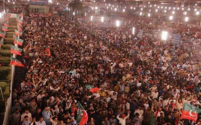 PTI's power show at Minar-e-Pakistan amid tight security