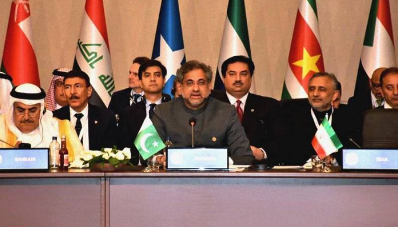 OIC summit: PM Abbasi demands investigations of Gaza carnage
