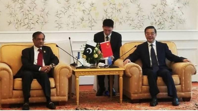 CJP Nisar meets Chinese counterpart