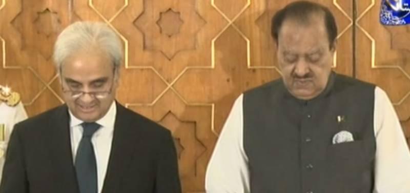 Nasirul Mulk takes oath as caretaker PM