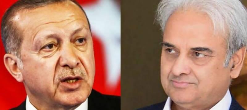 Caretaker PM Mulk congratulates Erdogan on presidential win