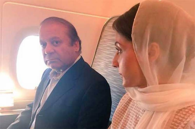 Nawaz, Maryam in Abu Dhabi, flight to Pakistan delayed