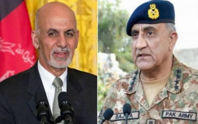 Afghan president calls COAS Bajwa, condoles deaths in terror attacks