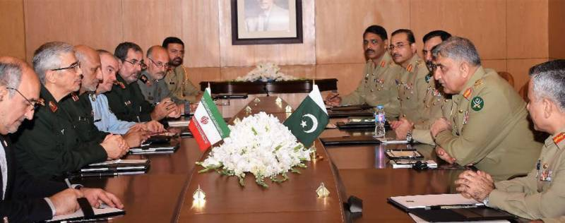 Iranian CGS, COAS Bajwa discuss regional security, defence cooperation