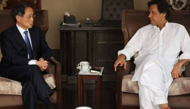 Japanese envoy meets Imran Khan, congratulates on election victory