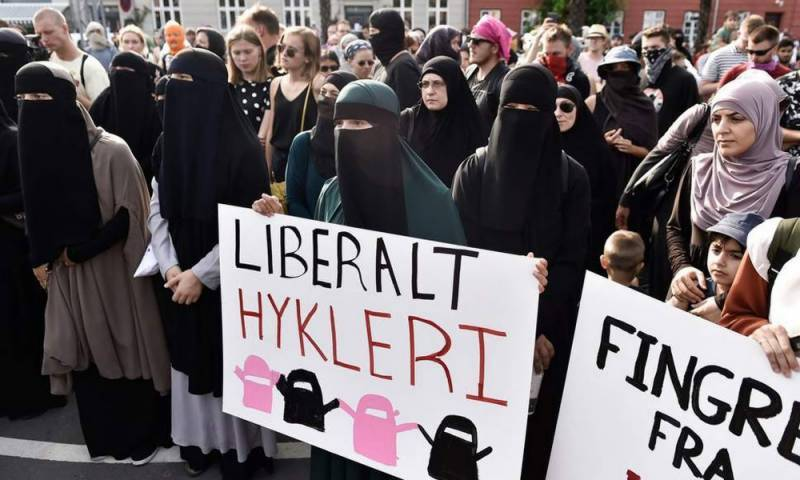 First woman fined for violating 'burqa ban' in Denmark