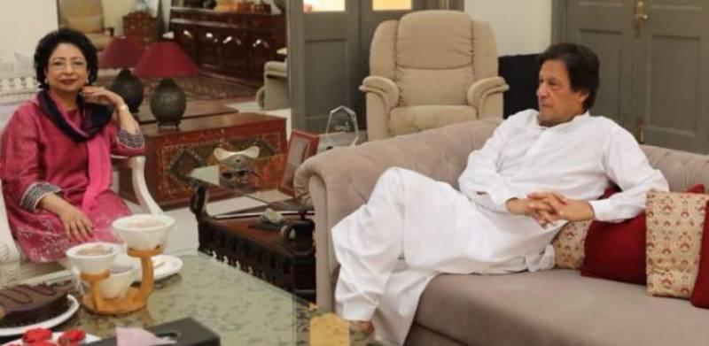 Pakistan's envoy to UN Maleeha Lodhi meets Imran Khan at Bani Gala