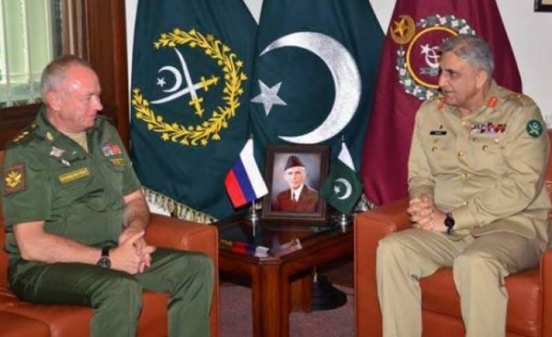 Russian Deputy Defence Minister meets COAS Bajwa