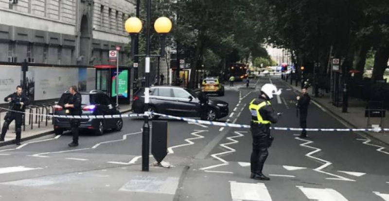 Pedestrians injured in car crash outside UK parliament