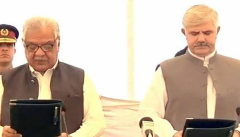 Mehmood Khan takes oath as CM Khyber Pakhtunkhwa