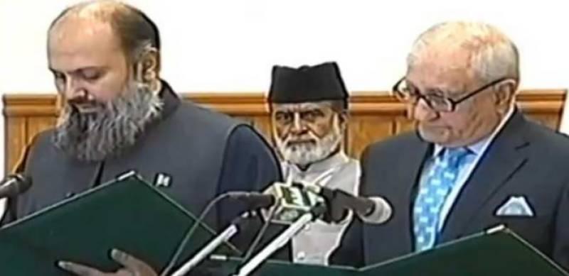 Jam Kamal Khan sworn in as CM Balochistan